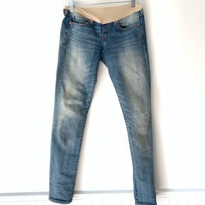 Gap Distressed Skinny Maternity Jeans Size 25/0